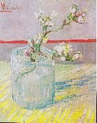 Flowering almond tree branch in a glass, Vincent Van Gogh
