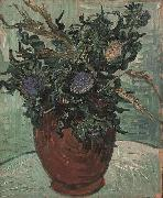 Flower Vase with Thistles, Vincent Van Gogh