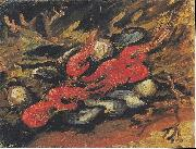 Still Life with Mussels and Shrimp, Vincent Van Gogh