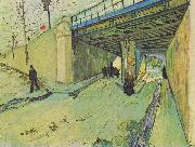 Railway bridge over the Avenue Montmajour, Vincent Van Gogh