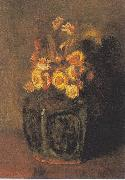 Ginger Pot with chrysanthemums, Vincent Van Gogh