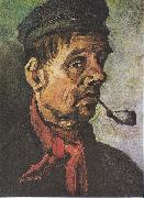 Head of a peasant with a clay-pipe, Vincent Van Gogh