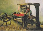 Weaver at the loom, with reel, Vincent Van Gogh