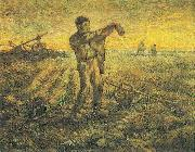The End of the Day, Vincent Van Gogh