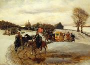 Vyacheslav Schwarz The Spring Pilgrimage of the Tsarina, under Tsar Aleksy Mihailovich oil painting