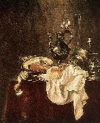 Willem Claesz. Heda Ham and Silverware oil painting
