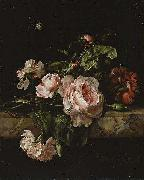 Willem van Aelst Group of flowers oil painting