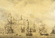 Willem van de Velde the Elder Battle of the Sound, 1658. oil painting