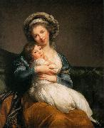 eisabeth Vige-Lebrun self-portrait with Her Daughter oil painting artist