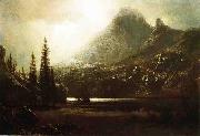 Albert Bierstadt By_a_Mountain_Lake oil painting reproduction