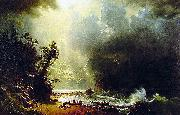 Albert Bierstadt Puget Sound, Pacific Coast oil painting reproduction