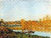 Alfred Sisley Banks of the Seine near Bougival oil painting reproduction