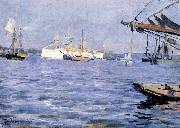 The Battleship Baltimore in Stockholm Harbor, Anders Zorn