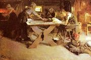 Bread Baking, Anders Zorn