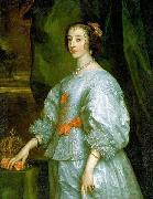Princess Henrietta Maria of France, Queen consort of England. This is the first portrait of Henrietta Maria painted