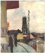 Catedral of Freiburg in the Switzerland, August Macke