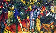 August Macke Zoologischer Garten (I) oil painting reproduction