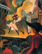 August Macke Russisches Ballett (I) oil painting reproduction