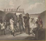 Augustus Earle Punishing negros at Cathabouco oil painting reproduction