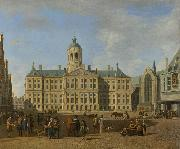 BERCKHEYDE, Gerrit Adriaensz. The town hall on the Dam, Amsterdam oil painting reproduction