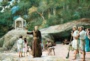 Benedito Calixto The groot of Friar Palacios oil painting on canvas