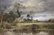 Benjamin Williams Leader A gleam before the storm oil painting artist