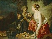 Caesar van Everdingen Vertumnus and Pomona oil painting artist