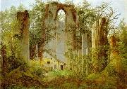 Caspar David Friedrich Klosterruine Eldena oil painting on canvas