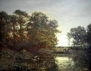 Landscape with a pond, Charles Francois Daubigny