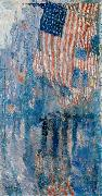 The Avenue in the Rain, Childe Hassam