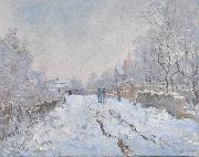 Claude Monet Snow at Argenteuil oil painting on canvas