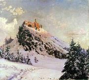 Czorsztyn Castle, Claude Monet