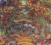 The rose way in Giverny, Claude Monet