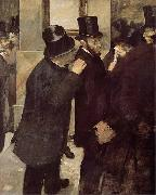 Portraits at the Stock Exchange, Edgar Degas