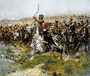 Charge of the 4th Hussars at the battle of Friedland, 14 June 1807, Edouard Detaille