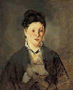 Edouard Manet Full face Portrait of Manets Wife oil painting reproduction