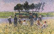 Emile Claus The Picknick oil painting reproduction