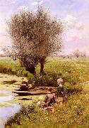 Afternoon Along The River, Emile Claus