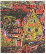 Ernst Ludwig Kirchner Green house oil painting on canvas