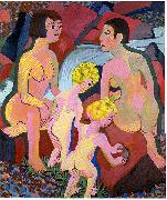 Ernst Ludwig Kirchner Bathing women and children oil painting reproduction