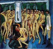 Ernst Ludwig Kirchner The soldier bath or Artillerymen oil painting reproduction