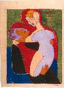 Lovers (The Hembusses)- colour-woodcut