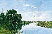 The River Touques at Saint Arnoult, Eugene Boudin