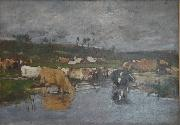 Paysage Nombreuses vaches a herbage, Eugene Boudin