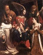 Holy Family with St Bruno and St Helena