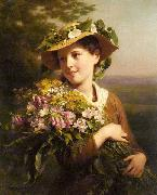 Young Beauty with Bouquet