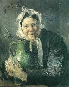 Old woman with a pitcher