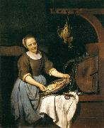 Gabriel Metsu The Cook oil painting reproduction