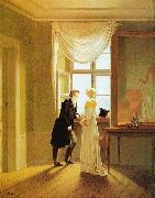 Georg Friedrich Kersting Paar am Fenster oil painting