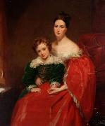 Robert Lawrence Pemberton of Bainbridge House with his mother